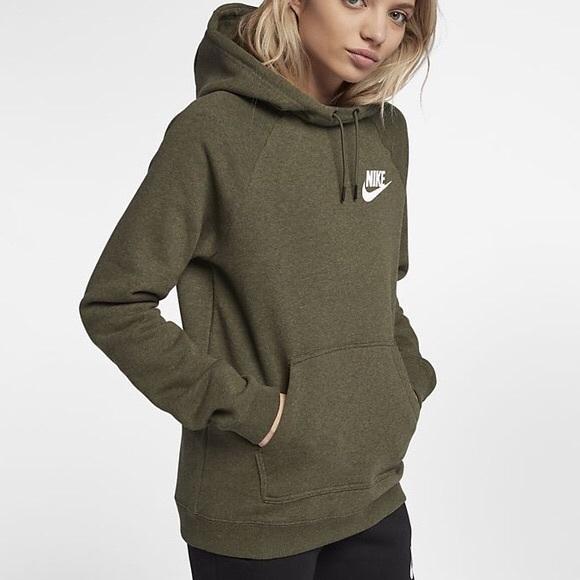 olive green nike hoodie womens Shop